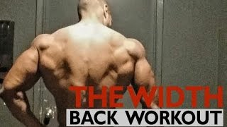 """THE WIDTH"" BACK WORKOUT"
