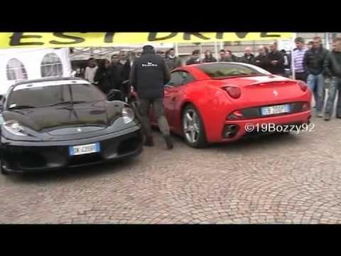 Ferrari California vs. Ferrari F430 Acceleration SOUND ...