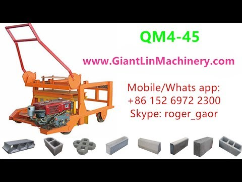 QM4-45 diesel engine movable concrete block machine price for sale in Kenya, Ghana