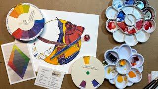 Color Scheme Game - Online Class Demo - Fountain Pens and Inkwell Dala Art - Bonus Challenge