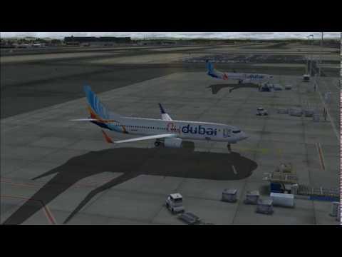 BOEING 737 FLY DUBAI FLIGHT DUBAI-BAHRAIN