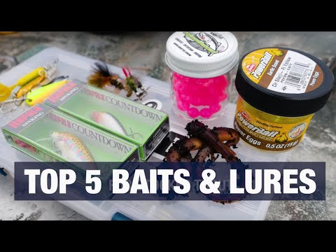 Top 5 Baits & Lures For Trout Fishing ANY Body Of Water. (Do You Agree?)