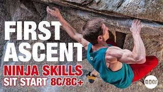 Martin Keller climbs Ninja Skills Sit Start (Font 8C/+)