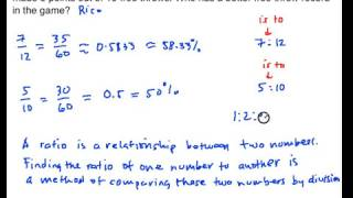 RP01 Ratio and Proportion Definition and Representation of Ratio