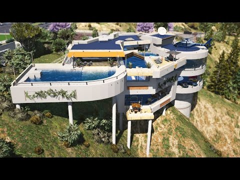 GTA 5 Mods - BILLIONAIRES MANSIONS MOD TOUR #3!! GTA 5 Mansions Mod Gameplay! (GTA 5 Mods Gameplay)