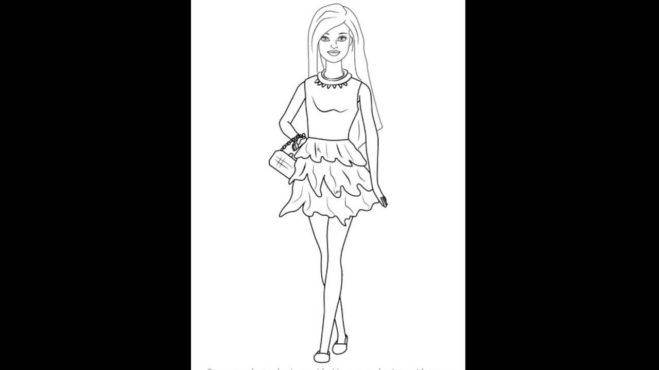 How To Draw Barbie Doll In Skirt Youtube