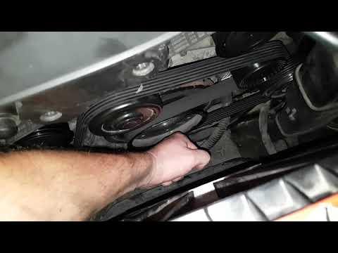 W211 Как снять ремень ГУР Как заменить Натяжной и Паразитный ролик Обгонная муфта генератора