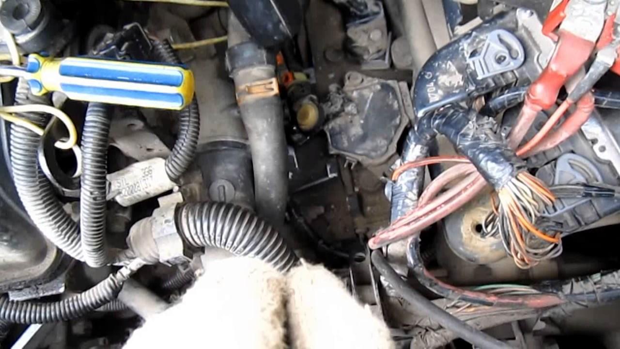 датчика коленвала двигателя renault megane