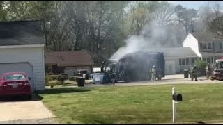 Garbage Truck Fire In York County