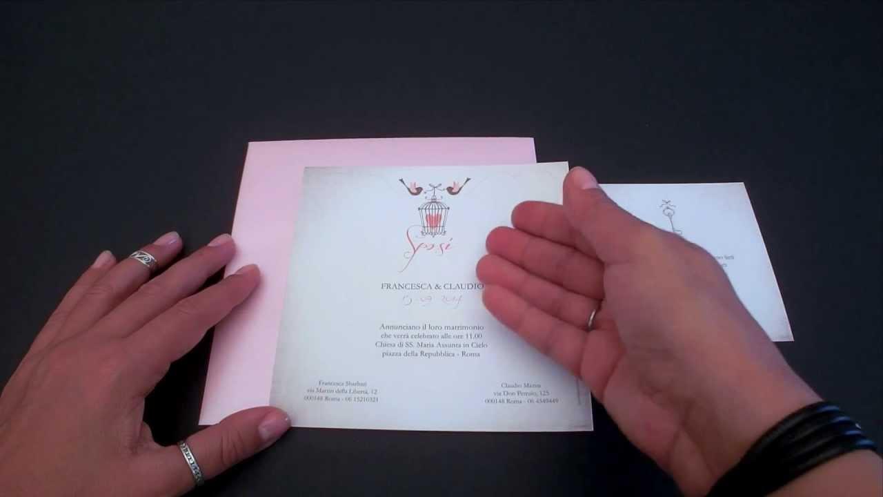 Partecipazioni Matrimonio Inkarta.Partecipazione Di Matrimonio Lovebird Youtube