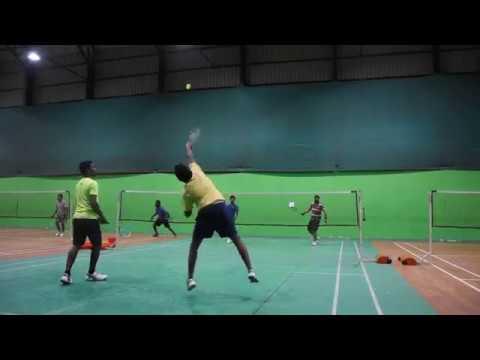 Badminton Men doubles Chinmaya&Janmejay VS Arun&Madhu at BIG GAME Sports CLUB, Bangalore 17thDEC2017