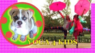 YOGA for KIDS 2-6 years old Funny Easy Entertaining Educational(Yoga 4 Kids ages 3-5 but older kids can definitely have fun along with us! This is a light hearted goofy class with light and easy exercises for young kids., 2014-10-05T19:13:30.000Z)