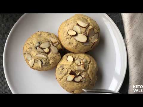 Keto Almond Blueberry Flaxseed Muffins Low Carb Recipe
