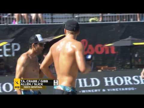 AVP Seattle Open 2017 Men's Semi-Final: Crabb/Gibb vs Allen/Slick