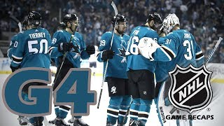 Las Vegas Golden Knights vs San Jose Sharks. 2018 NHL Playoffs. Round 2. Game 4. 05.02.2018. (HD)