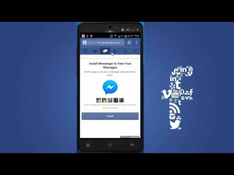 How to chat in facebook mobile without installing messenger even after they force to install you?
