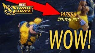 Massive Wolverine Damage - Dark Phoenix Blitz Gameplay - Marvel Strike Force - Msf