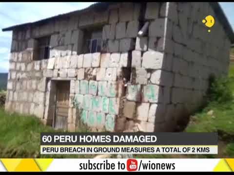 Seismic activity in Peru, 60 homes damaged