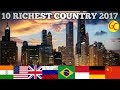 TOP 10 || LARGEST ECONOMIES IN THE WORLD || 2017 || RICHEST COUNTRY IN THE WORLD  HD