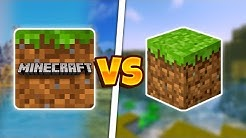 MINECRAFT POCKET EDITION VS MINECRAFT JAVA EDITION | MCPE VS MCJE