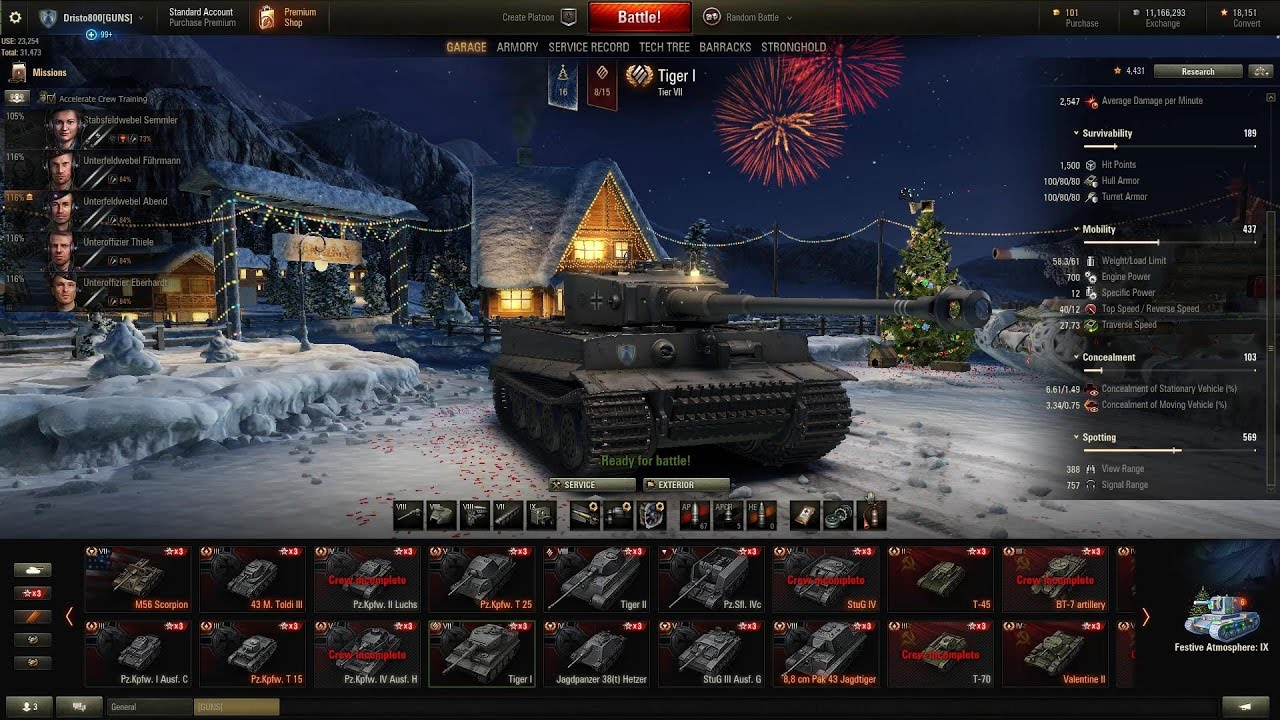 WOT Tiger 1 full review with awesome pools medal gameplay