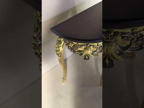 Консольный столик Mezza luna, столешница итальянский орех (МК 8205 )