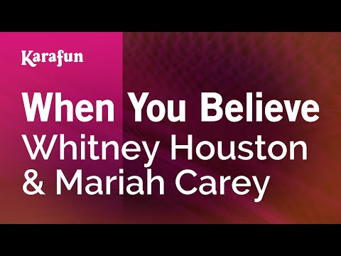 Karaoke When You Believe - Whitney Houston *
