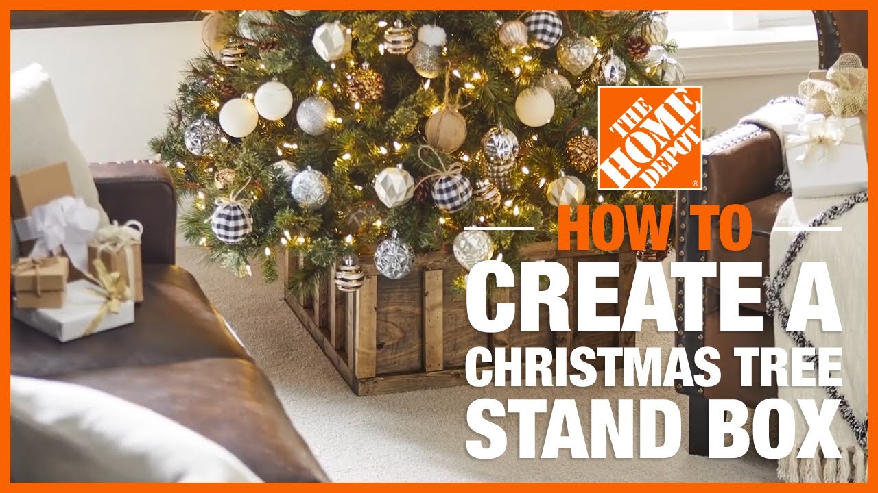 Christmas Tree Stand Box The Home Depot