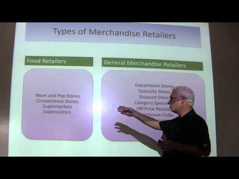 MKT 3335 Chapter 2 Part 1 Types of Retailers