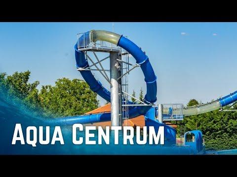WATER PARK WITH LOOPING SLIDE: Aqua Centrum Cegléd, Hungary (All Slides POV)