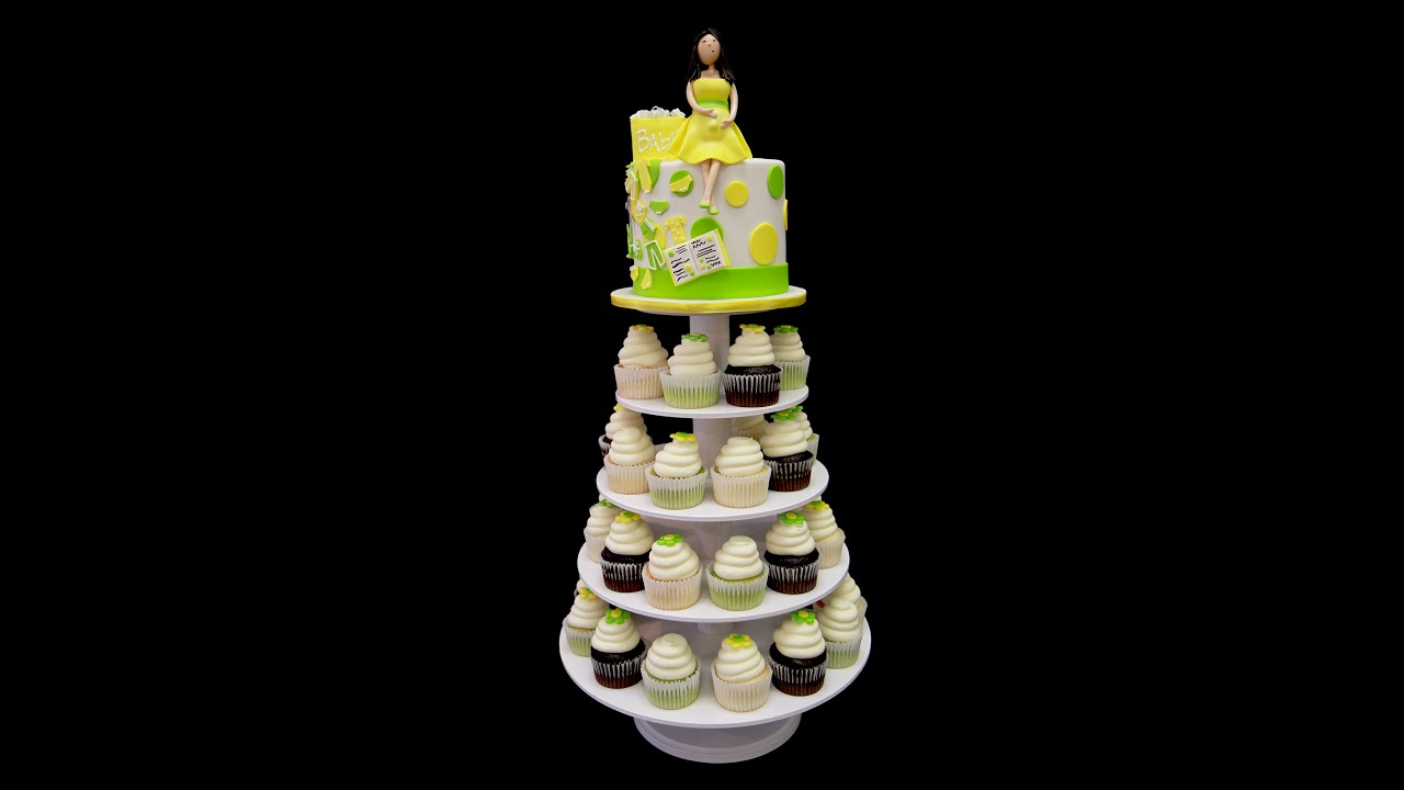 Shopping Baby Shower Cupcake Stand Youtube
