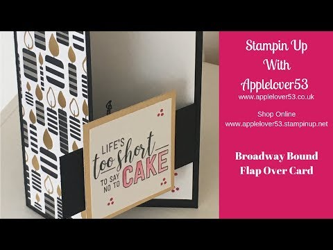 Stampin Up Broadway Bound Flap Over Card