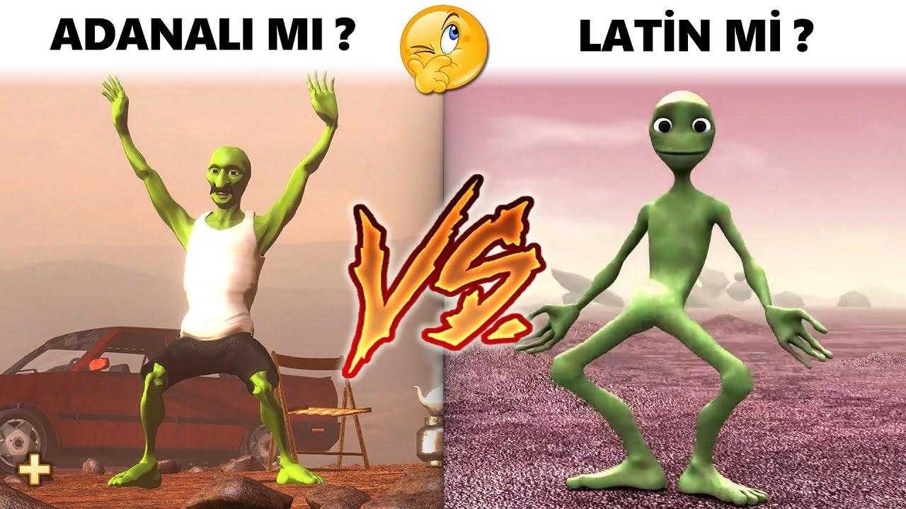 Adanali Green Alien Vs Dame Tu Cosita Youtube
