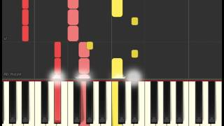 Piano tutorial: Ellie Goulding - Here's to us (Girls soundtrack) (Synthesia)