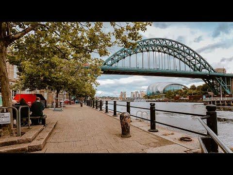 Quayside, Newcastle Upon Tyne UK   4K Walking Tour 2020