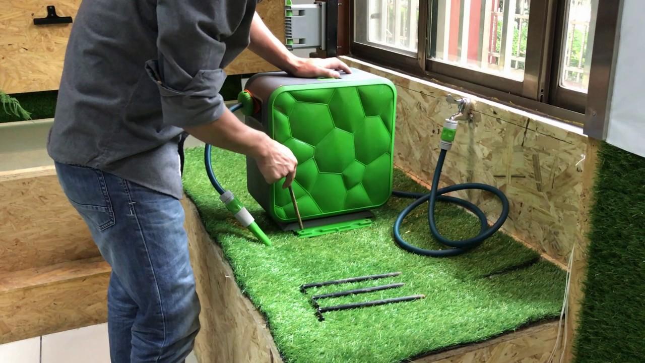 auto retractable garden hose reel - Retractable Garden Hose Reel