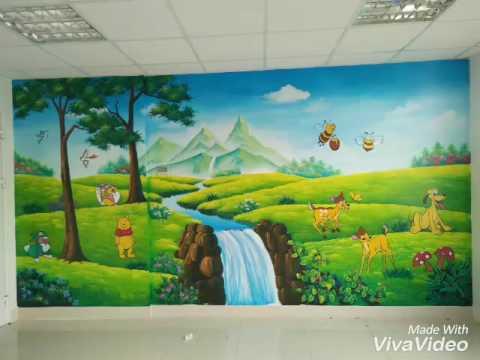 Tranh tường mam non cho các bé..lh vẽ tranh :01656539099