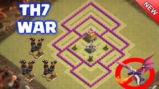 NEW UPDATE 2016 - TownHall7 War Base with 3 Air Defenses | Best TH7 Anti-Dragons