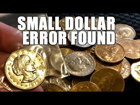 Awesome Error Found Hunting Small Dollar Coins Bank Roll Hunt For Rare Valuable