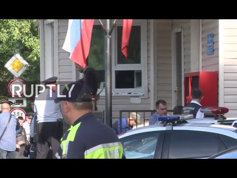 LIVE: Gunmen attack police station near Moscow, injuring officers