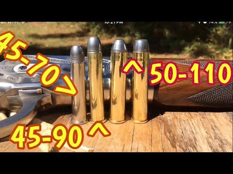 45-70 Gov Vs 45-90 Win Vs 50 Express 1886 Winchester Big Bore Lever Action Rifle Vs Hardwood