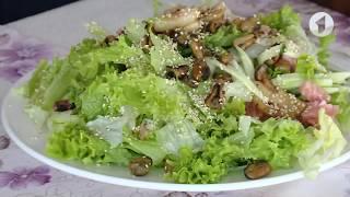 Утро. Lite / Готовим салат с морепродуктами