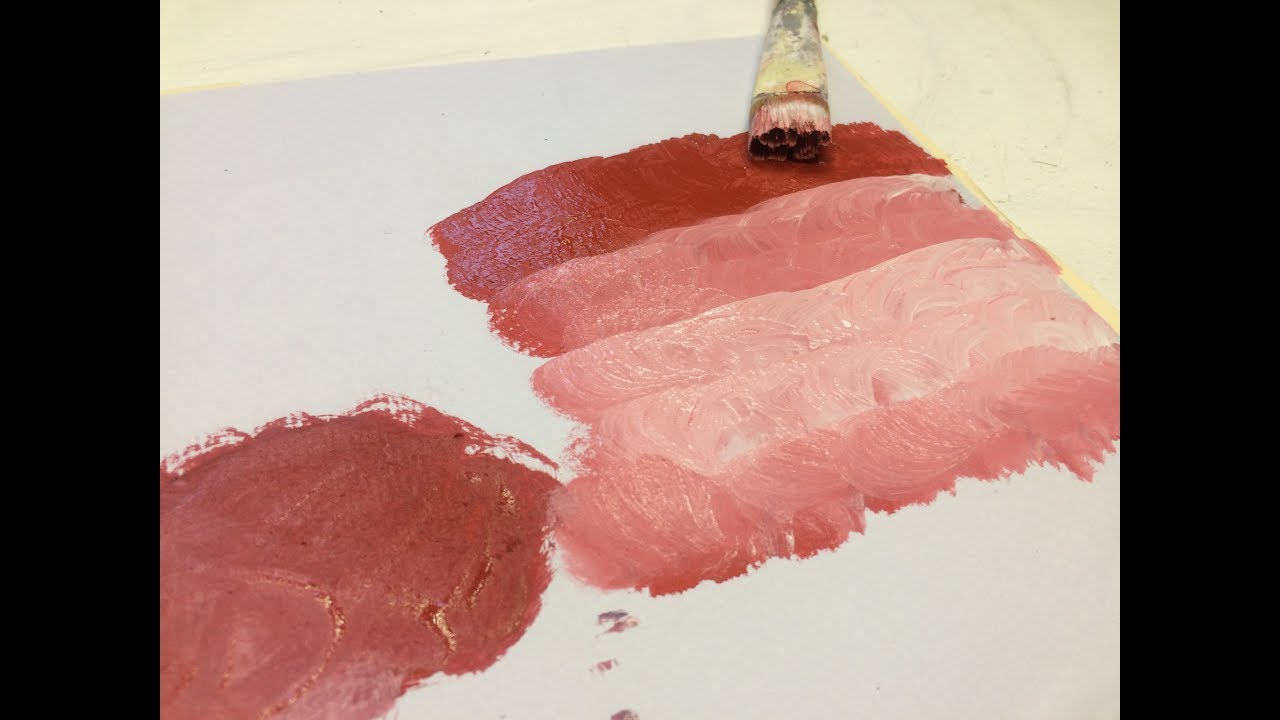 Acrílico Como Hacer El Color Rosa Mezclas De Pintura Acrilica