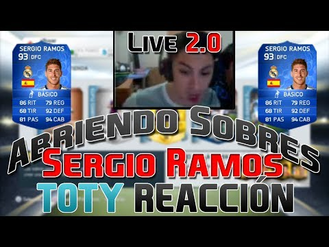 Ultimate Team 14 | PACK OPENING | Sergio Ramos TOTY Reacción | LIVE 2.0