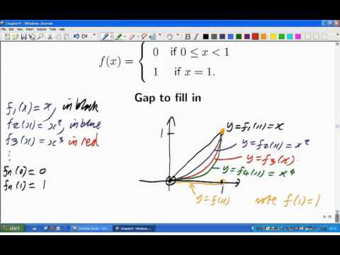 Lecture 18: Math. Analysis - Sequences of functions
