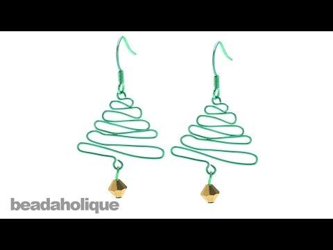How to Make a Wig Jig Christmas Tree Earring