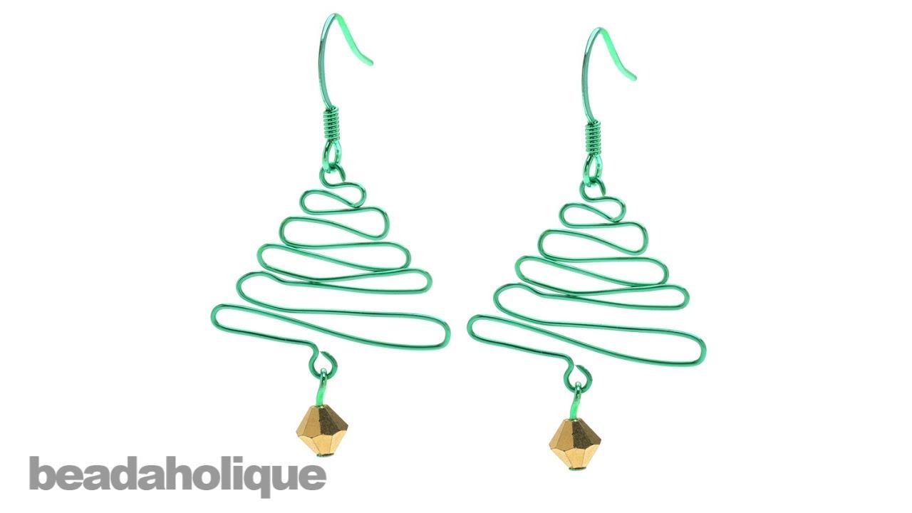 How to Make a Wig Jig Christmas Tree Earring - YouTube