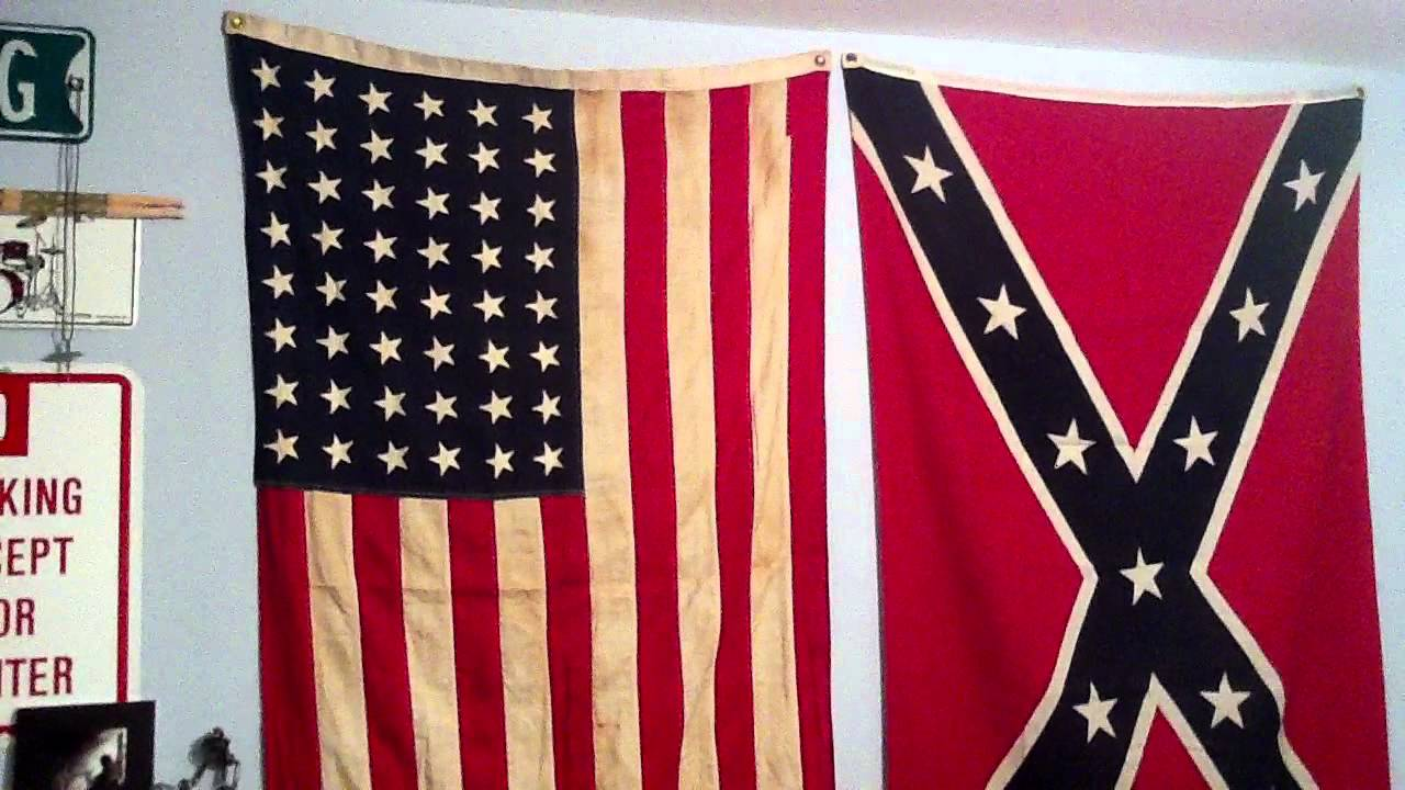 Old Flags 48 Star American Flag Amp Confederate Flag Youtube