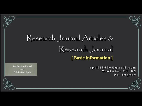Research Journal Article and Research Journal Basic