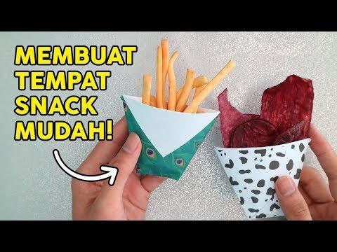 Membuat Wadah Makanan Dari Kertas Tips Kreatif How To Fold Food